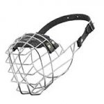 Wire Cage Riesenschnauzer Muzzle With One Strap