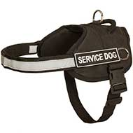 Nylon Riesenschnauzer Harness with Reflective Strap for Training, Walking, Police Service, SAR and More