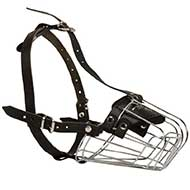 Wire Basket Riesenschnauzer Muzzle for Comfortable Walking and Training