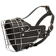 Leather Padded Wire Cage Riesenschnauzer Muzzle for Agitation Training