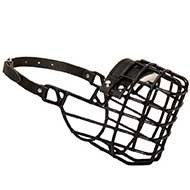 Frost-Resistant Wire Cage Riesenschnauzer Muzzle with One Adjustable Strap