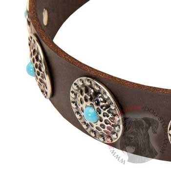 Blue-Stones Leather Riesenschnauzer Collar