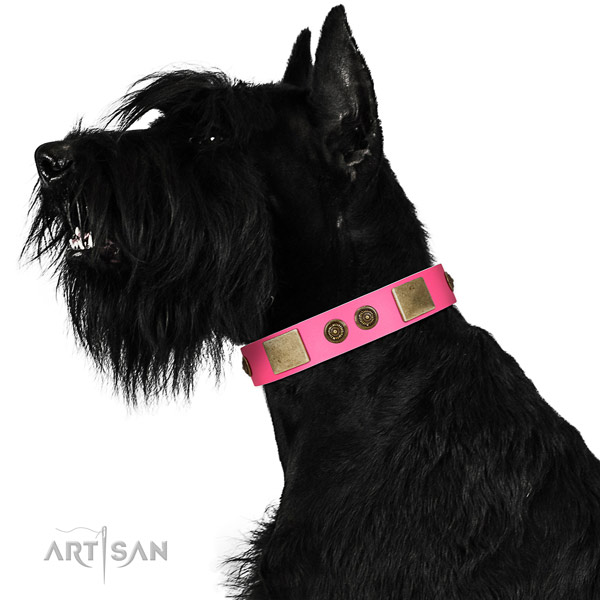 Convenient dog collar handcrafted for your lovely four-legged friend