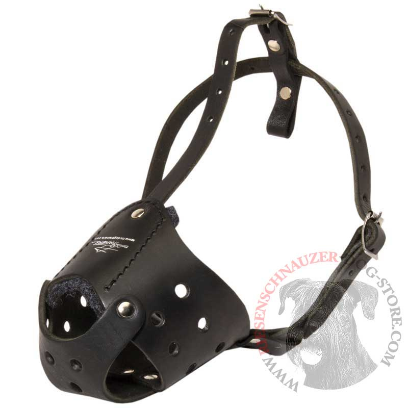 Everyday Leather Riesenschnauzer Muzzle for Training