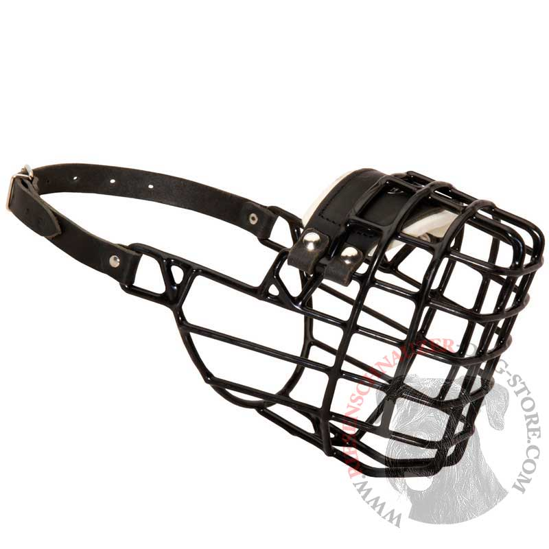 Frost-Resistant Wire Cage Riesenschnauzer Muzzle with One Adjustable Strap - Click Image to Close