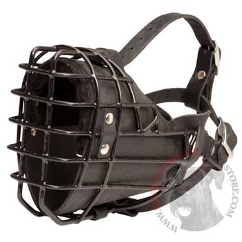 Winter Fully Wire Riesenschnauzer Padded Muzzle Cage