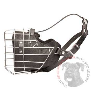 Leather Basket Riesenschnauzer Muzzle