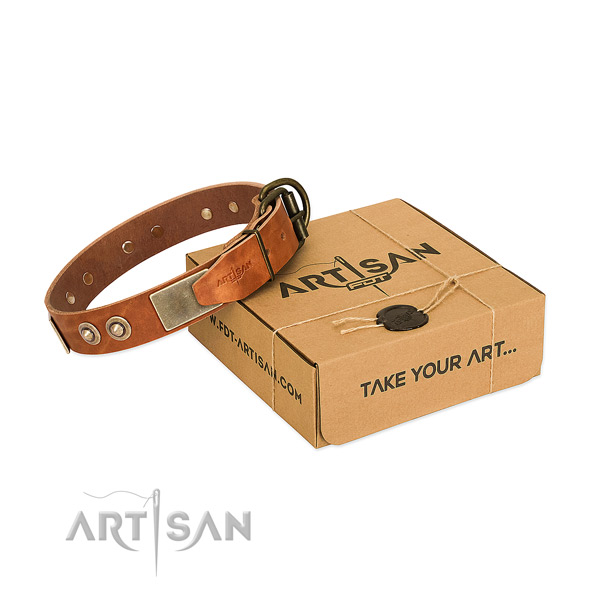 Durable buckle on dog collar for comfy wearing