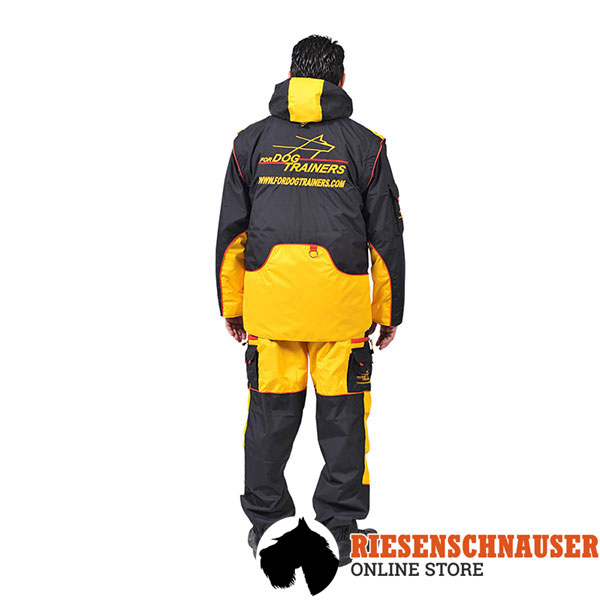 Membrane Fabric Training Bite Suit with a Number of Pockets